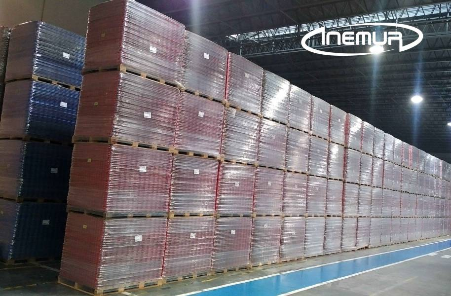 Palletising and depalletising for metalic containers 19